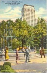 Court Square, Memphis, Tennessee, 1930-40s