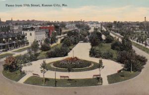 Missouri Kansas City Paseo From 17th Street 1911