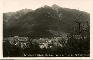 Austria - Seefeld, Tyrol. Reiterspitze (Mountain) - RPPC