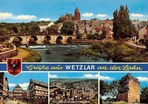 Gruesse aus Wetzlar an der Lahn, Eisenmarkt, Ruine Kalsmunt, Bruecke Panorama