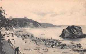 North Sands, Tenby, Wales, Great Britain, Early Postcard, Unused