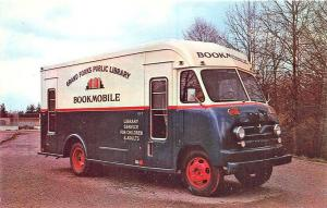 Grand Forks ND Public Library Bookmobile Ford Truck Postcard