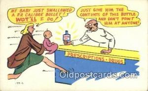 Comic Comical Postcard Post Card Old Vintage Antique