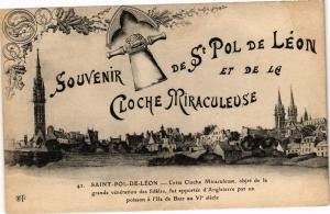 CPA Souvenir de St-POL-de-LÉON et de le Cloche Miraculeuse - St-... (206383)