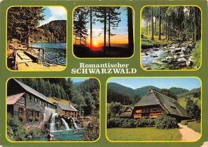 Romantischer Schwarzwald Sonneuntergang Forest Lake Mill Muehle