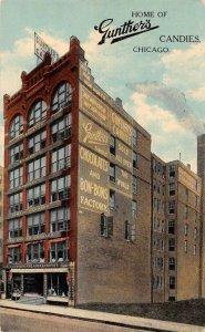 Chicago Illinois Gunther's Candies Vintage Postcard JJ658737