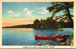 Maine Greetings From Long Lake Naples 1954