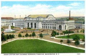 DC - Washington, Union Station & Columbus Memorial Fountain