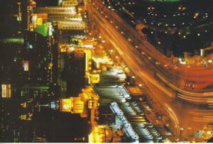 The Bund Shanghai China Cityscape Birdseye Traffic Night Scene Postcard D15