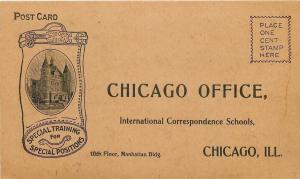 Chicago~Int'l Correspondence School Training Ad: Teacher, Mech Engineer, Wireman
