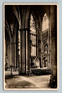 RPPC of The Ladye Chapel, York Minster England Postcard