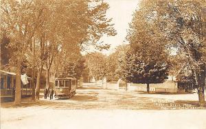 Asbury Grove MA Trolley #231 Waiting Room? Photo By A. B. Norton RPPC Postcard