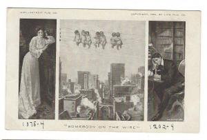 Balfour Ker Somebody on the Wire Cherubs Telephone Postcard