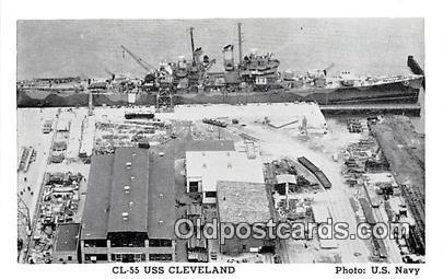 Postcard Post Card CL55 USS Cleveland