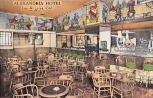 Los Angeles California Alexandria Hotel Interior Antique Postcard K33831