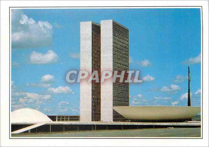 Postcard Modern Brasil Brasilia the House of Representatives of the twentieth...