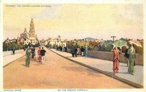 1915 San Diego California Exposition Puente Cabrillo Panama Postcard 20-1266