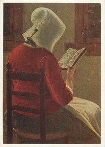 Painting drawings art Postcard Pieter de Hooch A dutch interior