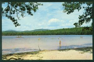 White Lake State Park Tamworth New Hampshire Route 16 NH Beach Postcard