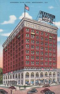 Jefferson Davis Hotel, Classic Cars, MONTGOMERY, Alabama, PU-1939