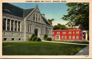 Maine Augusta Lithgow Library and Y M C A Building