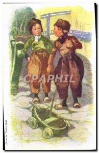 Old Postcard Fantasy Illustrator Child Petrole Hahn Hair Hairdresser Boat
