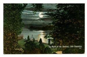 NY - Lake Champlain. Mouth of the Saranac River
