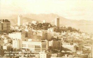 Birdseye San Francisco California Russian Hill Mt Tampalis RPPC Postcard 20-2089