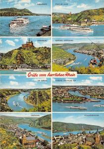 Germany Gruesse vom herzlichen Rhein Rheinpartie Dei Lorelei Marksburg Oberwesel