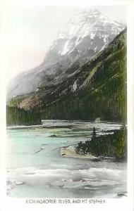 RPPC of Kicking Horse River and Mt. Stephen British Columbia BC