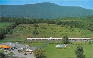 Bennington Vermont~Aerial View Darling Kelly's Motel~Howard Johnson's~1960s PC