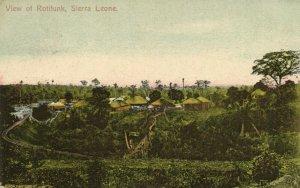 PC CPA SIERRA LEONE, VIEW OF ROTIFUNK, Vintage Postcard (b24788)