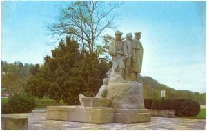 Monument to Start Westward, Muskingum Park, Marietta, Ohio, OH, Chrome