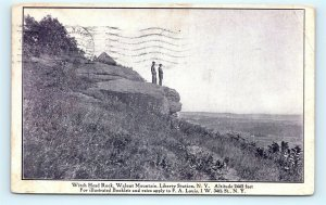 Postcard NY Liberty Station Witch Head Rock Walnut Mountain 1910 View R67