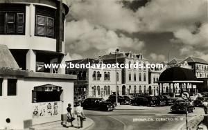curacao, N.W.I., WILLEMSTAD, Brionplein, Car (1950s) Penha RPPC