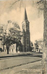 Putnam Connecticut~St Marys Catholic Church~1944 Postcard