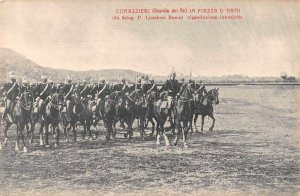 Italy Military King's Guard Corazzieri in Parade Grounds Postcard JJ658828