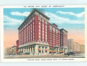 Unused W-Border HOTEL SCENE Grand Rapids Michigan MI B1644