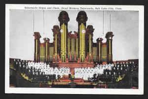 Interior Organ & Choir Great Mormon Tabernacle Salt Lake City Utah Unused c1920s