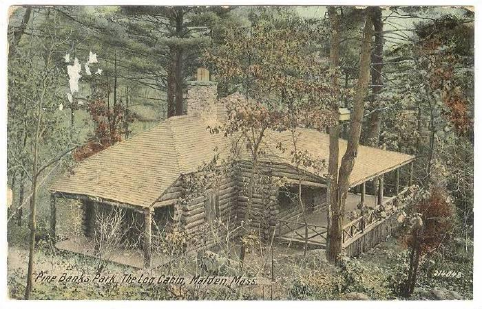 Pine Banks Park, The Log Cabin, Malden, Massachusetts, PU-1912