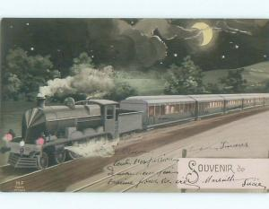 foreign c1910 Postcard GREAT VIEW OF ANTIQUE EUROPEAN TRAIN AC3788