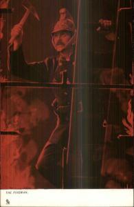 TUCK Fire Fighting Series Ladder Axe Action Scene #828 c1910 Postcard