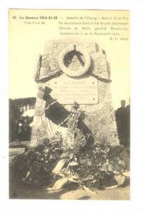 Bataille De l'Ourcq, Le Monument Eleve A Nos Braves Defenseurs, Barcy (Seine ...
