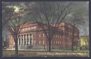 Franklin County Memorial Hall Columbus OH used c1910