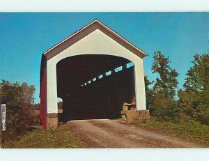 Unused Pre-1980 COVERED BRIDGE Catlin Indiana IN t7814