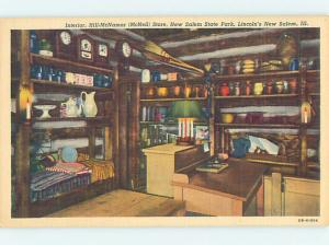 Unused Linen RETAIL STORE SCENE New Salem Illinois IL hp0993