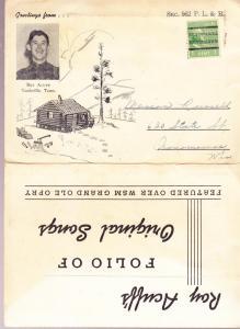 Roy Acuff Post Card Folder 1930's