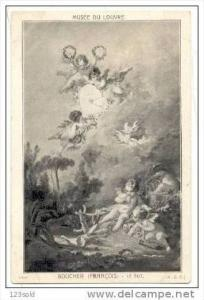 art painting - Boucher Francois - le But - Cherubs Cupid - Musee du Louvre , ...