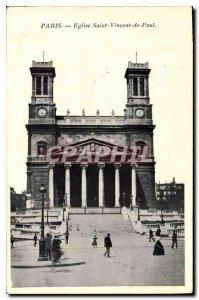 Postcard Old Paris Church of Saint Vincent de Paul