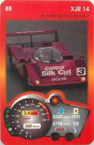 Piatnik 6x9cm auto revue trade card 8B XJR 14
